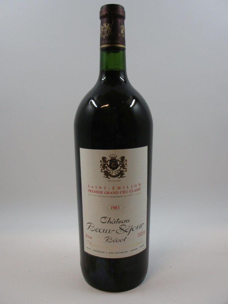 1 magnum CHÂTEAU BEAUSEJOUR BECOT 1983 1er GCC (B) Saint Emilion (étiquette légerèrement tachéé) (cave 7)