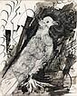 Pablo PICASSO (Malaga, 1881 - Mougins, 1973) PIGEON RAMIER (recto), SOLEIL (verso) Dessin à l'encre de Chine et lavis d'encre sur un.