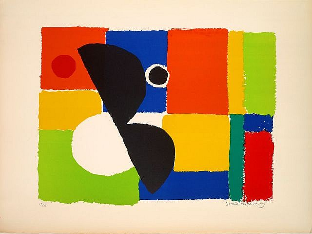 Sonia DELAUNAY (Gradijsk, 1885 - Paris, 1979) HELICE NOIRE, circa 1960