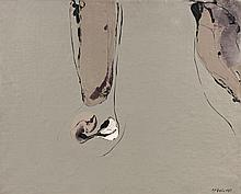 Bernard REQUICHOT (1929 - 1961) SUSPENTATEUR - 1956 Huile sur toile