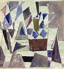 Geer Van VELDE (1889 - 1978) SANS TITRE - Circa 1957-58 Aquarelle sur papier