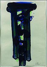 Olivier DEBRE (1920 - 1999) SANS TITRE Technique mixte sur papier
