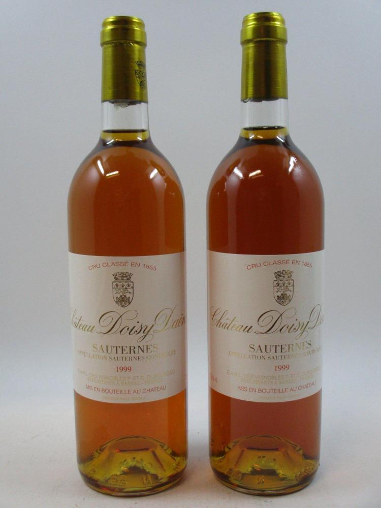 6 bouteilles CHÂTEAU DOISY DAENE 1999 2è GC Barsac (base goulot) Caisse bois d'origine (cave 13)