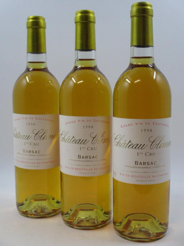 6 bouteilles CHÂTEAU CLIMENS 1998 1er cru Barsac (Cave 1)