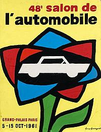 Guy GEORGET 1911 - 1992 Salon de l'Auto 1961