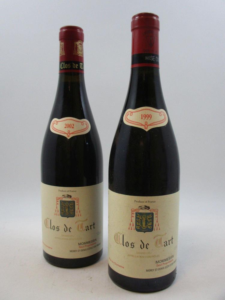 6 bouteilles 1 bt : CLOS DE TART 1999 Grand Cru. Mommessin5 bts : CLOS DE TART 2002 Grand Cru. Mommessin (cave 12)