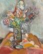 ¤ Pinchus KREMEGNE (Zaloudock, 1890 - Céret, 1981) VASE DE FLEURS Huile sur toile