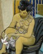 Georges KARS (Kralupy, 1882 - Genève, 1945) FEMME A SA TOILETTE Huile sur toile