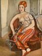 ¤ Georges KARS (Kralupy, 1882 - Genève, 1945) ODALISQUE, 1929 Huile sur toile