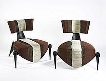 André DUBREUIL (Né en 1951) Paire de fauteuils