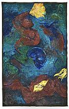MINO (é en 1955) Sans Titre - 1994 Acrylique sur toile
