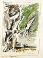 André MASSON (Balagny-sur-Thérain,1896 - Paris, 1987) PROPHETIE, 1965 Aquarelle et encre sur papier
