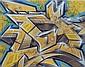 DARCO (né en 1968) AUTOGRAFF-ARTNAVAL, 2013 Peinture aérosol et marqueurs sur toile