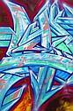 DARCO (né en 1968) AUTOGRAFF-DEPART, 2013 Peinture aérosol et marqueurs sur toile