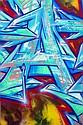 DARCO (né en 1968) AUTOGRAFF-ARTEPASSADOS, 2013 Peinture aérosol et marqueurs sur toile