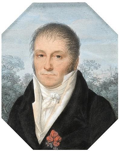 Baptiste Gagnereaux Dijon, 1765 - 1846 Portrait d'homme portant la Légion d'Honneur Fusain et pastel, signé et localisé 'B. C. Gagne