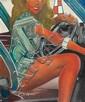 Gianni BERTINI (né en 1922) A DINER AVEC CERES, 1973 Acrylique sur report photographique sur toile