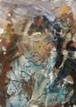 Eugène LEROY (1910-2000) TETE D'ENFANT, 1964 Huile sur toile