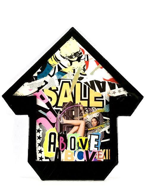 ABOVE (né en 1981) SALE, 2011 Collages et résine sur flêche en bois découpé