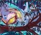 Milo TCHAIS (né en 1981) FLYING SOUL, 2010 Peinture aérosol et feuilles d'or sur toile