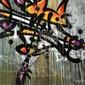 MIST (né en 1972) SPLIT RESEARCH, 2011 Peinture aérosol et acrylique sur toile