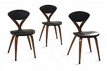 Norman CHERNER (Né en 1920) Suite de trois chaises