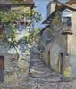 Paul MADELINE (1863- Paris, 1920) RUE DE VILLAGE AUX ESCALIERS Huile sur toile