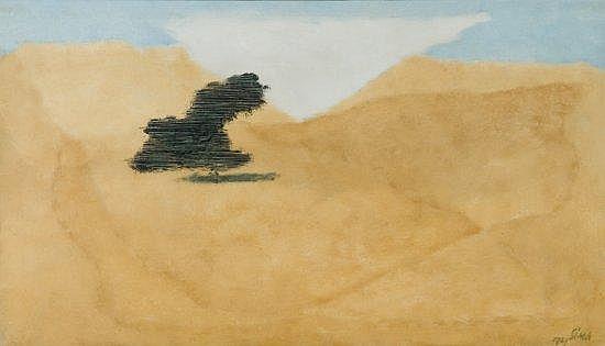 Josef SIMA (1891-1971) PAYSAGE, 1929 Huile sur toile