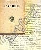 George Bataille L'Abbé C. Les Amis des Editions de Minuit, 1950. In-12 br. 1/500 sur alfa réservés...