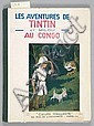 HERGE TINTIN - N°2 LES AVENTURES DE TINTIN ET MILOU AU CONGO