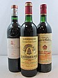 3 bouteilles 1 bt : CHÂTEAU CANON LA GAFFELIERE 1982 1er GCC (B) Saint Emilion (légèrement bas, étiquette fripée)