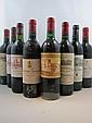 11 bouteilles 1 bt : CHÂTEAU CALON SEGUR 1985 3è GC Saint Estèphe