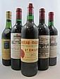 5 bouteilles 1 bt : CHÂTEAU LEOVILLE LAS CASES 1975 2è GC Saint Julien (étiquette fanée)