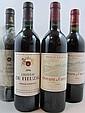 10 bouteilles 2 bts : CHÂTEAU DE FIEUZAL 1989 CC Pessac Léognan (étiquettes fanées)