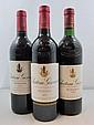 3 bouteilles 1 bt : CHÂTEAU GISCOURS 1986 3è GC Margaux (base goulot)