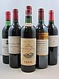 5 bouteilles 1 bt : CHÂTEAU PONTET CANET 1964 5è GC Pauillac (haute épaule, étiquette fanée, mise Cruse)