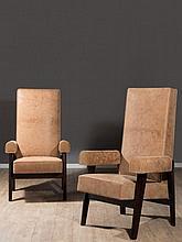 LE CORBUSIER & Pierre JEANNERET (1887-1965 & 1896-1967) Paire de fauteuils dits