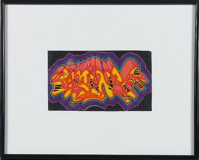 DURO (né en 1958) SANS TITRE Technique mixte sur papier
