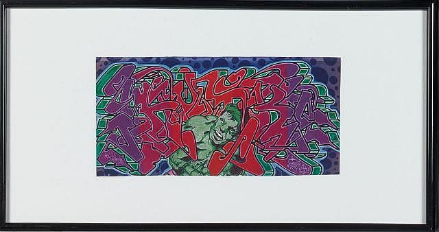 DURO (né en 1958) HULK Technique mixte sur papier