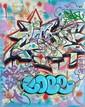 COPE 2 (Fernando Carlo dit) (né en 1968) SANS TITRE, 2011 Peinture aérosol et marqueur sur plan de métro de New York (MTA)