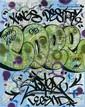 COPE 2 (Fernando Carlo dit) (né en 1968) KINGS DESTROY, 2010 Peinture aérosol et marqueur sur plan de métro de New York (MTA)