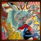 CRASH (John Crash Matos dit) (né en 1961) UNDISPUTED TRUTH, 1990 Peinture aérosol et acrylique sur toile