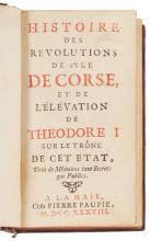 [Jacob von WITTELIEB ?]  Histoire des révolutions de l'île de Corse et de l'élévation de Théodore I sur le trône de cet état