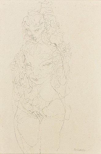 Ossip ZADKINE (Vitebsk, 1890- Paris, 1967) PORTRAIT DE JEUNE HOMME, 1934 Dessin au crayon sur papier