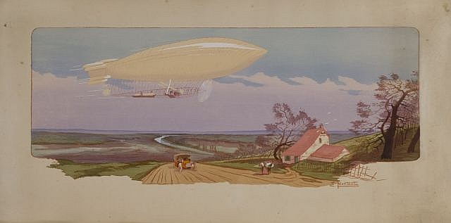 Ernest MONTAUT (1879-1909)  En vol