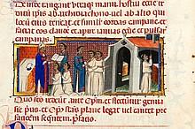[MANUSCRIT]  Feuillets extraits d'un Pontifical noté (à l'usage de la curie romaine) et ornés de 22 miniatures par un artiste de for.