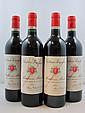 7 bouteilles  3 bts : CHÂTEAU POUJEAUX 1996 CB Moulis (étiquettes fripées) 4 bts : CHÂTEAU POUJEAUX 1995 CB Moulis