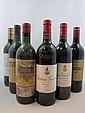 9 bouteilles  1 bt : CHÂTEAU HAUT BATAILLEY 1990 5è GC Pauillac (étiquette léger abimée) 1 bt : CHÂTEAU BRANE CANTENAC 1985 2è GC...