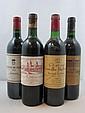 9 bouteilles  4 bts : CHÂTEAU DU TERTRE 1994 4è GC Margaux (étiquettes léger déchirées) 1 bt : CHÂTEAU COS D'ESTOURNEL 1987 2è GC...