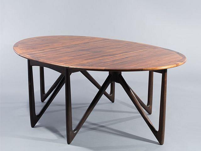 Niels koefoed table de salle manger ovale deux abattant - Table salle a manger ovale extensible ...